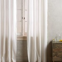 Linen Grommet Curtain by Anthropologie