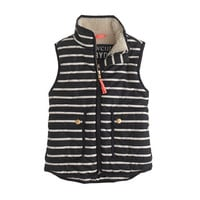 GIRLS' EXCURSION QUILTED VEST IN STRIPE