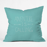 Deny Designs Adventure Throw Pillow Turquoise One Size For Women 24561124101