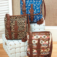 Canvas Printed  Crossbody Bags in 3 Patterns