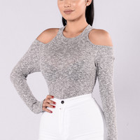 Break Free Bodysuit - Heather Grey
