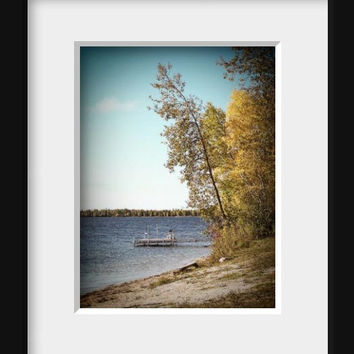 Beach Photography Outdoor Nature Print Magnetic Calendar Greeting Cards blue orange green