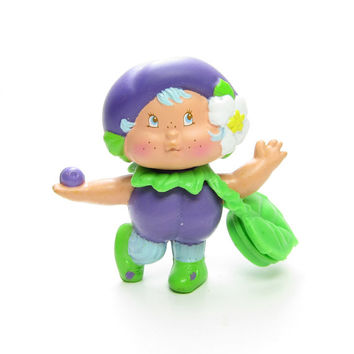 Plum Berrykin Critter Vintage Strawberry Shortcake Toy with Scented Perfume for Plum Puddin - RARE