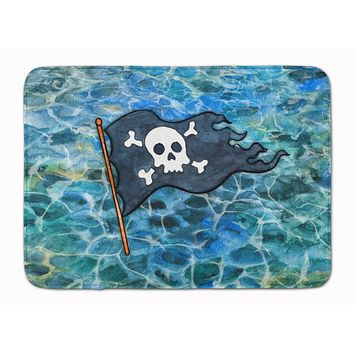 Pirate Flag Machine Washable Memory Foam Mat BB5342RUG