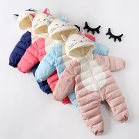 Autumn Winter  Baby Snowsuit  Down Jackets Baby Winter Coat Newborn   Outwear  jumpsuit Baby boy and girl Clothes Winter
