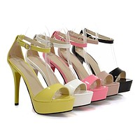 Ankle-Straps-High-Heels-Sandals-Women-Pumps-Platform-Shoes 8444