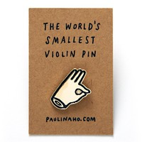 World's Smallest Violin Pin by Shop by Paulina