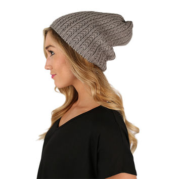 The More The Merrier Sweater Beanie Grey