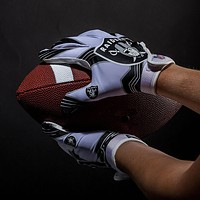 Las Vegas Raiders Ultimate Fit Youth Receiver Gloves