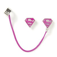 Pink Glitter and Chain Supergirl Ear Cuff Set – Claire's