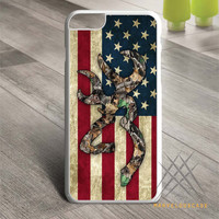 Browning Deer Camo American Flag Design case for iPhone, iPod and iPad