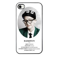 KPOP EXO MEMBER XOXO IPHONE4 CASE (BAEK HYUN)
