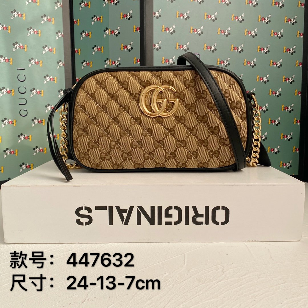 Image of Gucci  Women's Leather Shoulder Bag Satchel Tote Bags Crossbody0406tx