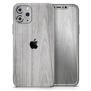 Smooth Gray Wood - Skin-Kit compatible with the Apple iPhone 12, 12 Pro Max, 12 Mini, 11 Pro or 11 Pro Max (All iPhones Available)
