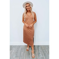Plain And Simple Dress: Taupe