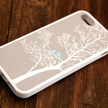 Free Shipping Tree Birds iPhone 6 Plus iPhone 6 iPhone 5S iPhone 5C iPhone 5 iPhone 4S/4 Rubber Case