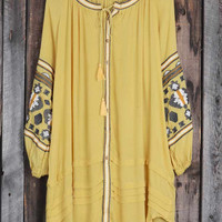 Cupshe Good All Around Embroidered Shirt Dress