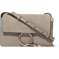 Chloé - Faye small leather and suede shoulder bag