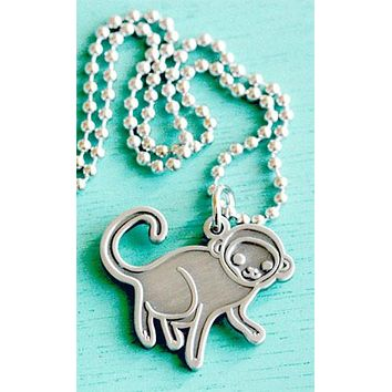 Sale: Monkey Necklace by boygirlparty