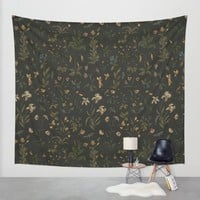 Old World Florals Wall Tapestry by Jessica Roux