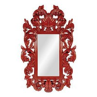 One Kings Lane - Kathleen Koszyk Designs - Botticelli Modern Mirror, Red
