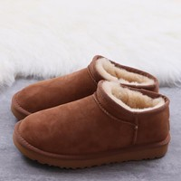 Women's and men's UGG warm cotton shoes ankle boots _1686248855-033