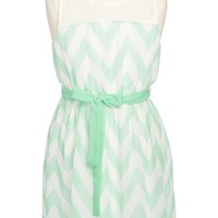 Zunie Chevron Dress (Big Girls)