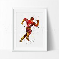 Flash Watercolor Art Print