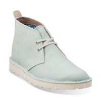 Womens Desert Aerial Pale Green Canvas - Womens Medium Width Shoes - Clarks
