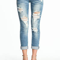 SHREDDED RELAXED FIT JEANS