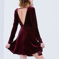Velvet Ropes Open Back Skater Dress