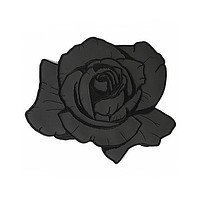Reflective Black Rose Large Back Patch