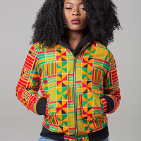 Kente Bomber Jacket