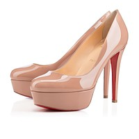 Christian Louboutin Cl Bianca Nude Patent Leather 120mm Stiletto Heel Classic