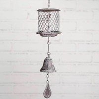 Cast Iron Rustic Hanging Birdcage Bell