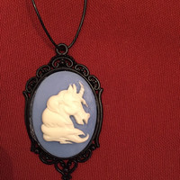 Retro/Mod Unicorn Necklace