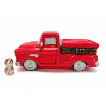 Jewelry Boxes Red Pickup Truck