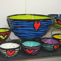 small color heart bowl