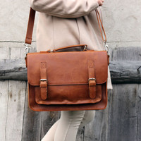 SALE ! brown leather messenger bag,  leather satchel, handmade leather bag, leather shoulder bag