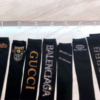 Balenciaga / Fendi / Gucci Crystal Long Socks