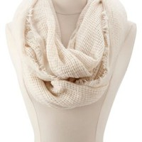 Waffle Knit Infinity Scarf by Charlotte Russe