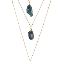 Viridian Crystal Necklace Set