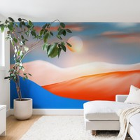 Minimal Mountains 01 Wall Mural Viviana Gonzalez