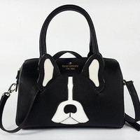"""Kate Spade"" Fashion Cute Bulldog Single Shoulder Messenger Bag Women Temperament Pillow Handbag"