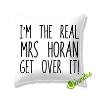 Mrs Horan One Direction Square Pillow Cover