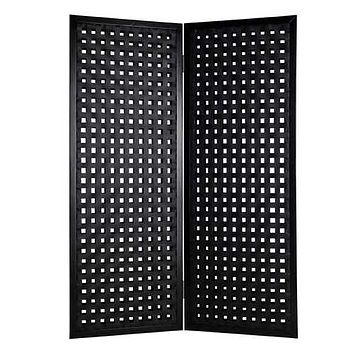 "Black, Faux-leather - Screen 1"" x 55"" x 75"""