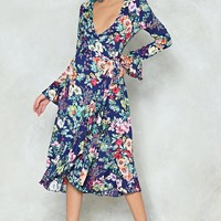 Do You Know Where You're Growing to Floral Dress