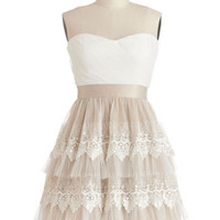 ModCloth Mid-length Strapless Ballerina Elegant Elevations Dress