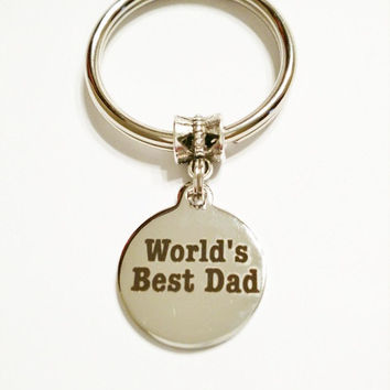 Father's Day Gift / Father's Day Keychain / Gift for Man / Father's Day Gift from kid / Gift for Grandfather / Keychain / World's Best Dad