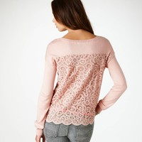 AE Lace Back Sweater | American Eagle Outfitters